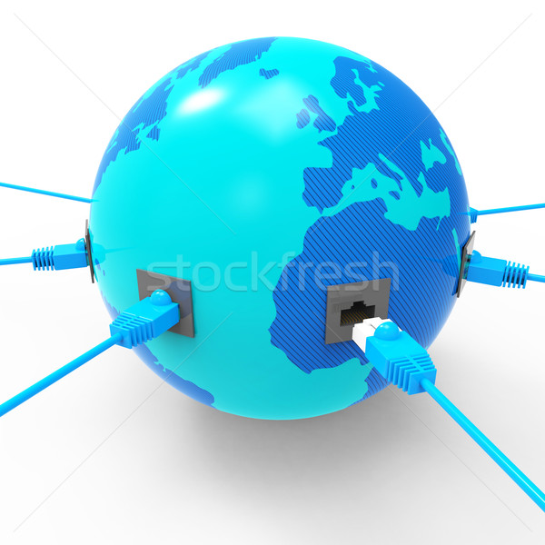 Worldwide Internet Represents Web Site And Connection Stock photo © stuartmiles