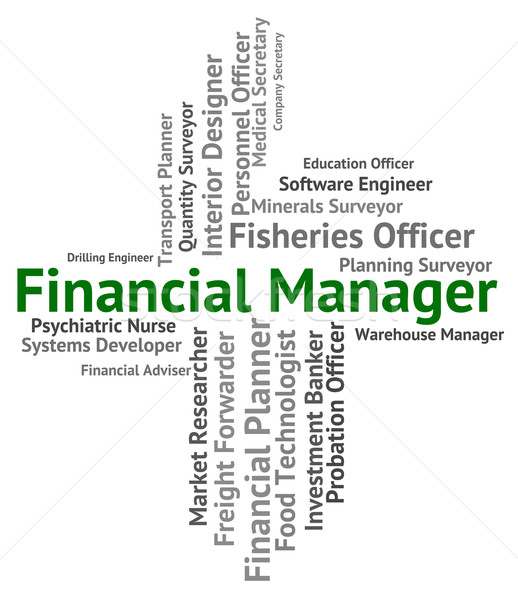 Financial Manager Represents Position Work And Earnings Stock photo © stuartmiles