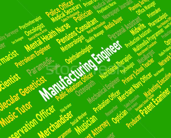 Fabrico engenheiro industrial empregado comercial Foto stock © stuartmiles