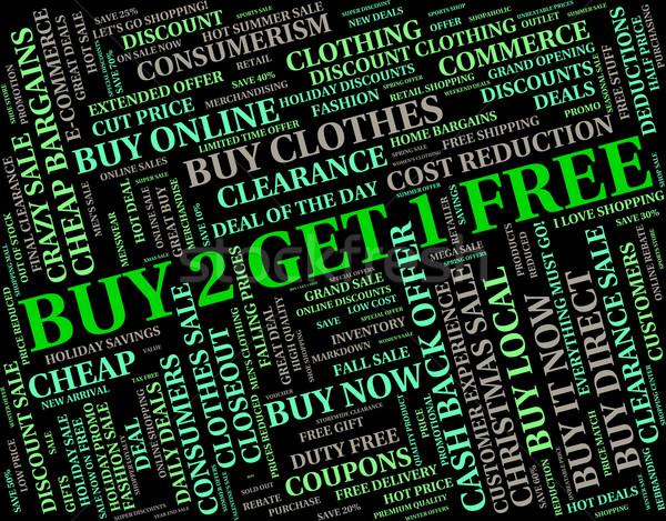 Comprar dos uno ganga barato libre Foto stock © stuartmiles
