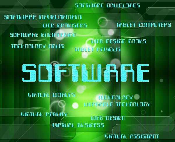Software parola testo programmazione significato tecnologia Foto d'archivio © stuartmiles