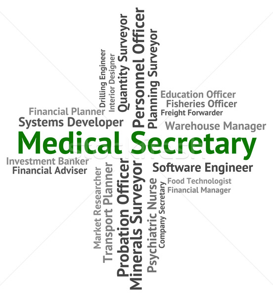 Medical Secretary Shows Personal Assistant And Administrator Stock photo © stuartmiles