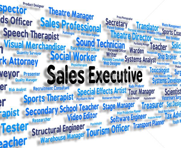 De vendas executivo senior administrador patrão diretor Foto stock © stuartmiles