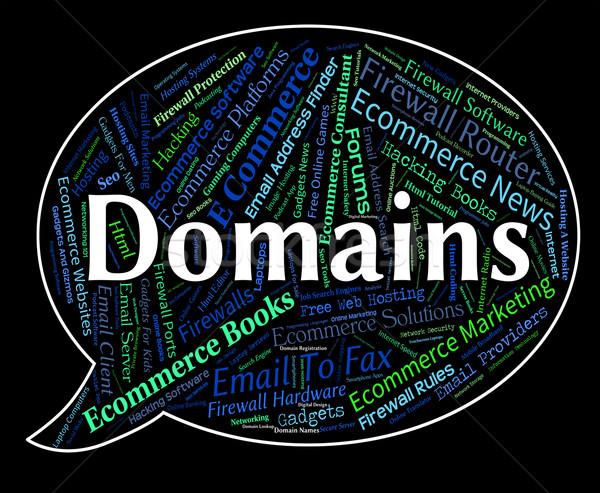 Woord woorden web tekst internet Stockfoto © stuartmiles