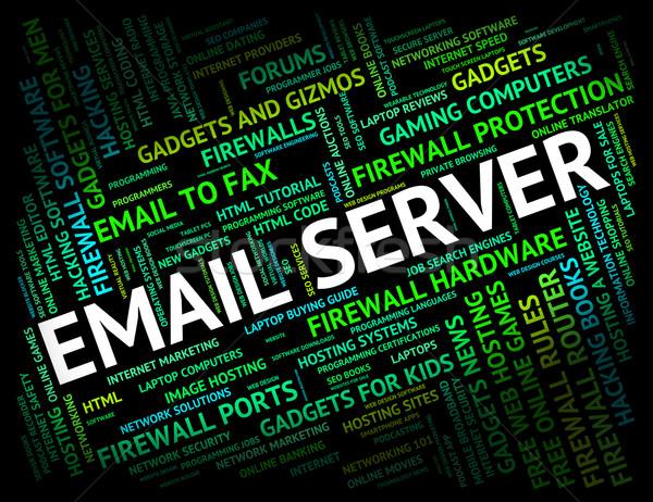 Email szerver küld üzenet kommunikáció számítógép Stock fotó © stuartmiles