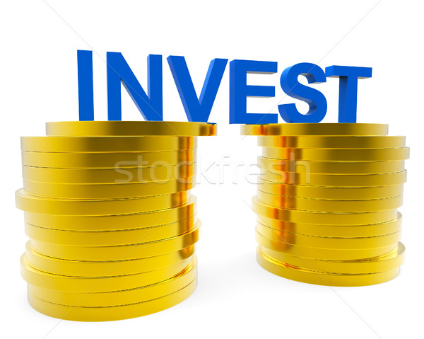 Invest Money Indicates Finance Investor And Roi Stock photo © stuartmiles