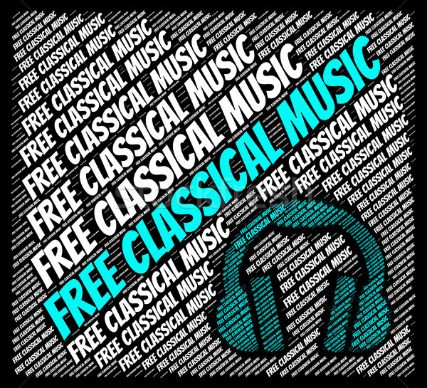 Free Classical Music Indicates For Nothing And Acoustic Stock photo © stuartmiles