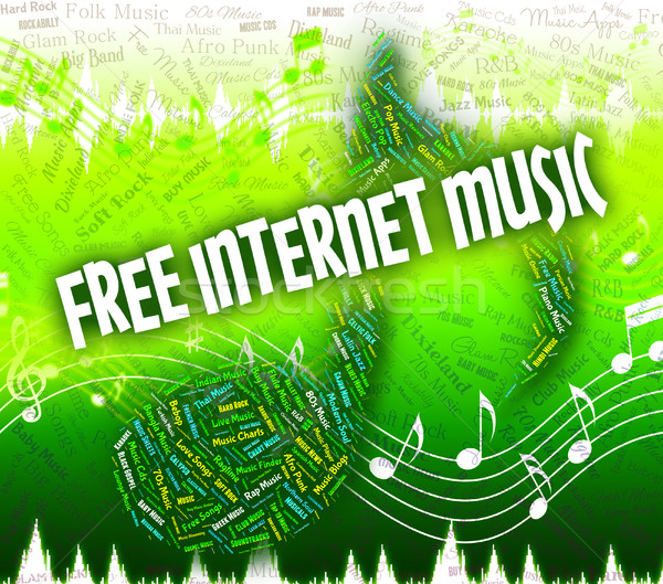 Stock photo: Free Internet Music Means Sound Tracks And Complimentary