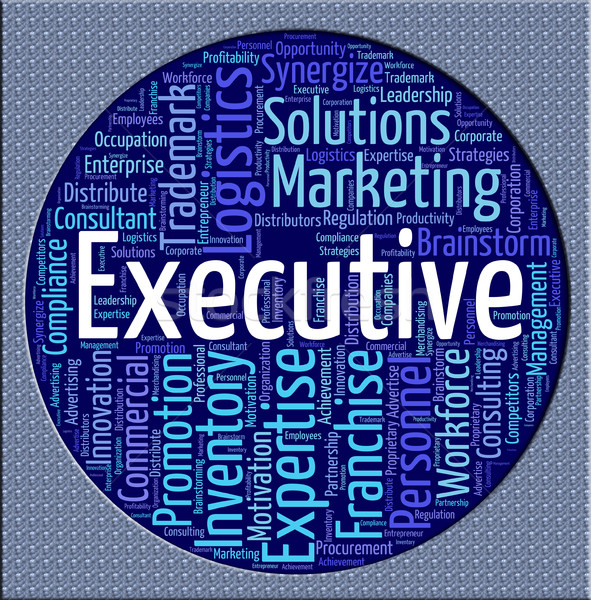 Executive Word Means Director General And Chairwoman Stock photo © stuartmiles