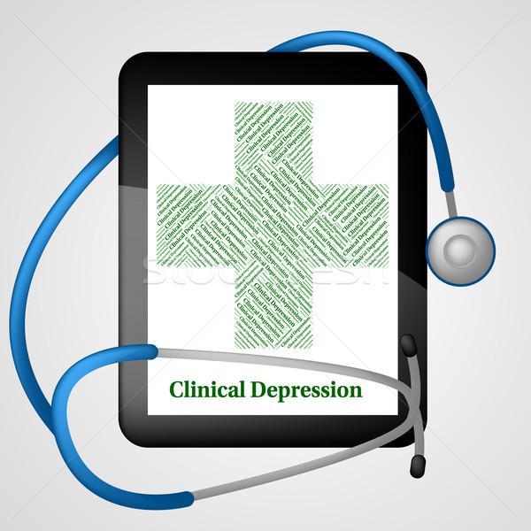 Klinik depresyon çatlamak yukarı Stok fotoğraf © stuartmiles