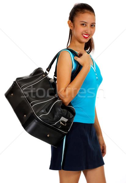 Genç hazır spor çanta uygunluk Stok fotoğraf © stuartmiles