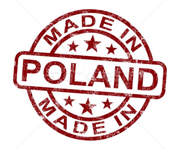 Polonia timbro prodotto produrre Foto d'archivio © stuartmiles