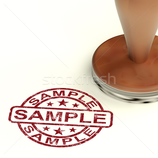 Sample Stamp Showing Example Symbol Or Taste Stock photo © stuartmiles