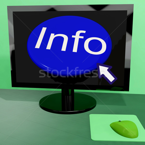 Info Button On Computer Shows Getting Information Online Stock photo © stuartmiles