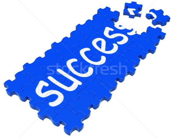 Success Puzzle Shows Accomplishment And Successful Business Stock photo © stuartmiles