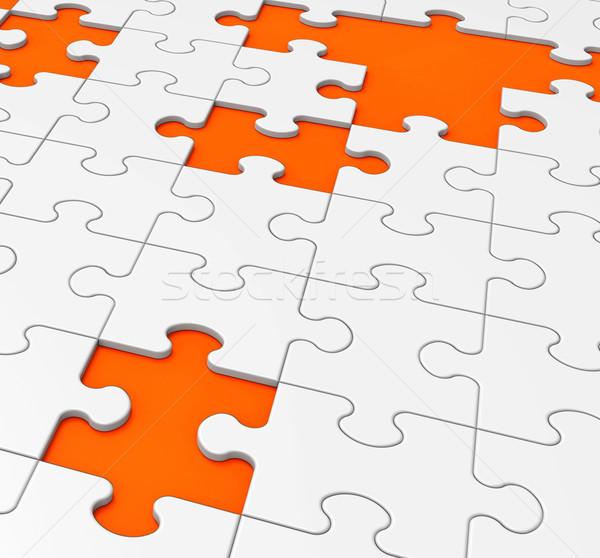 Unfinished Puzzle Shows Missing Pieces Stock photo © stuartmiles
