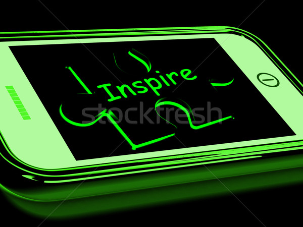 Inspire On Smartphone Showing Encouragement Stock photo © stuartmiles