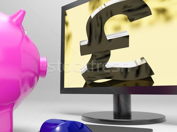 Pond scherm geld financiering winst tonen Stockfoto © stuartmiles