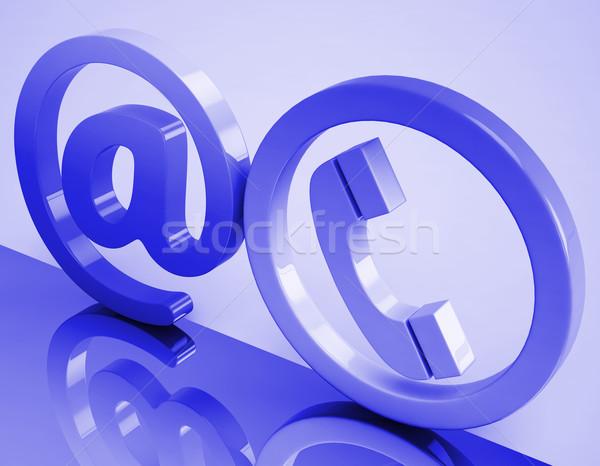 Telefon felirat email telefon jelentés kommunikáció Stock fotó © stuartmiles