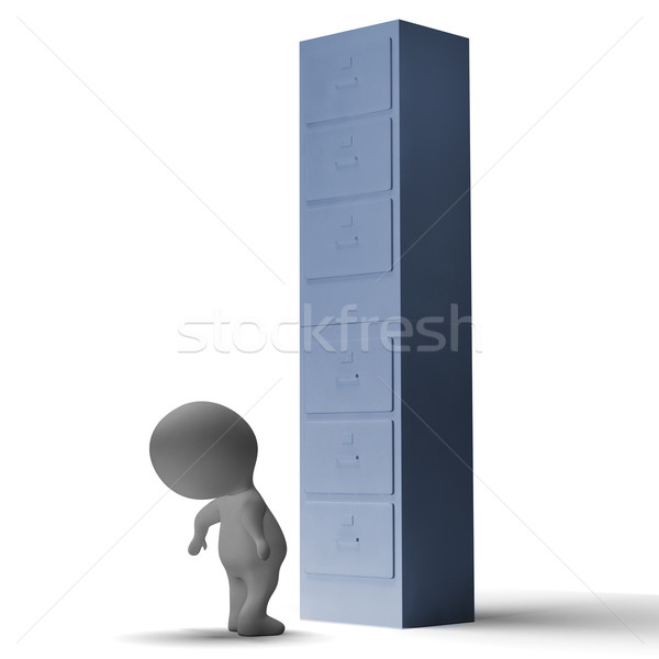 High Filing Cabinet Meaning Overworked And Overloaded Stock photo © stuartmiles