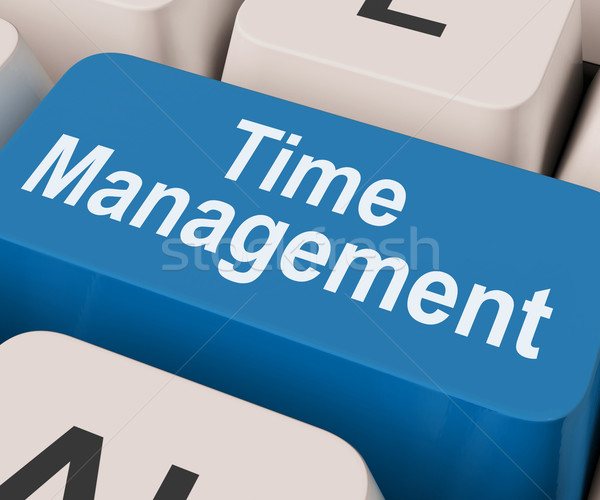Time Management Key Shows Organizing Schedule Online Stock photo © stuartmiles