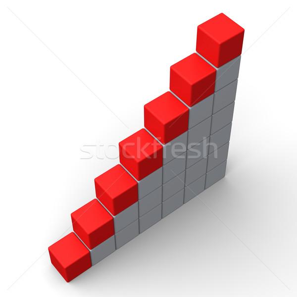 Sept étapes montrent espace de copie lettre mot Photo stock © stuartmiles