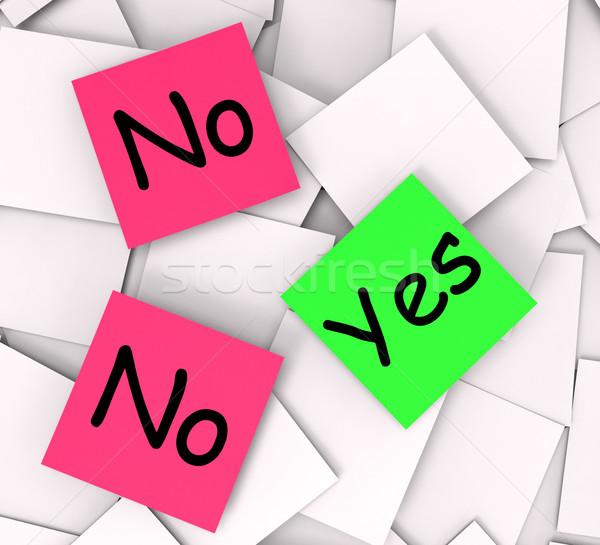 Stockfoto: Ja · geen · merkt · antwoorden · negatieve · betekenis