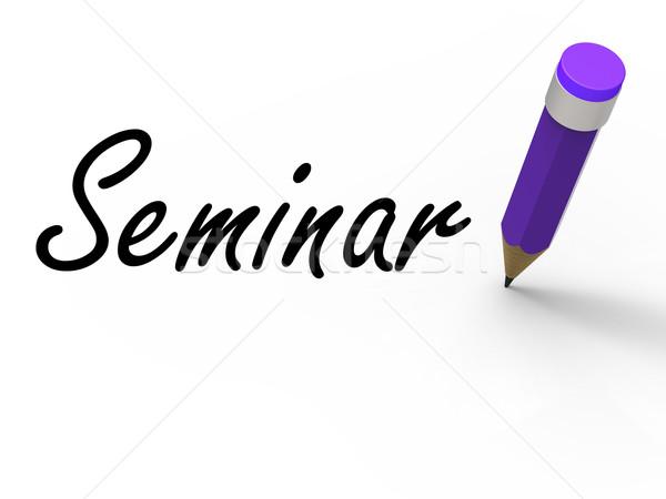 Seminario lápiz escrito nombramiento negocios Foto stock © stuartmiles