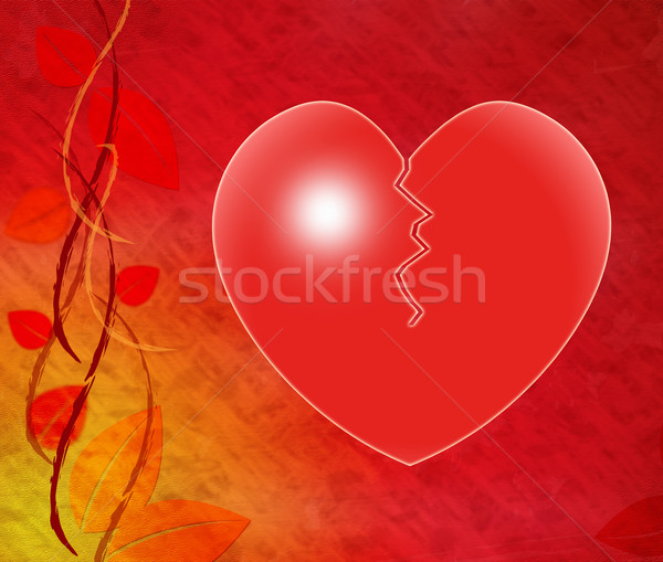 Broken Heart Means Infidelity Crisis And Divorce Stock photo © stuartmiles