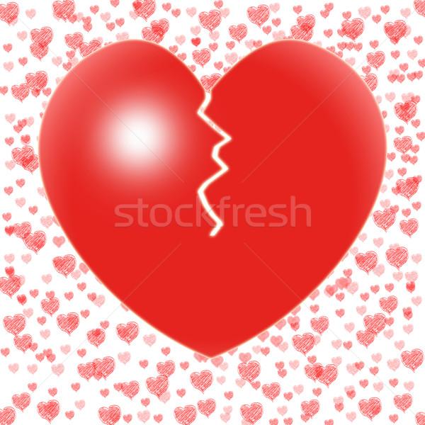 Broken Heart Means Couple Trouble Or Relationship Crisis Stock photo © stuartmiles