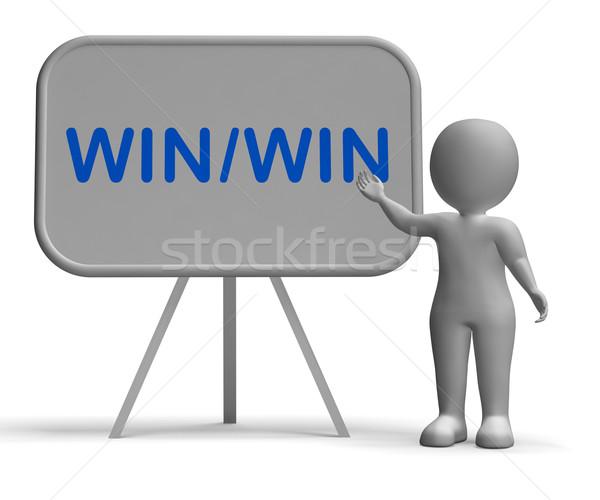 Win Win Whiteboard Showing Strategy Benefits Both Stock photo © stuartmiles