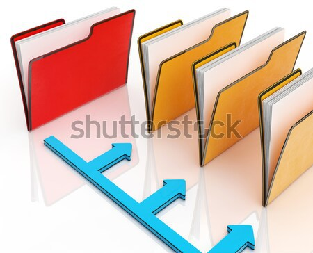 Blank Box Copy space Means Stand Out Leader Or Individual Stock photo © stuartmiles