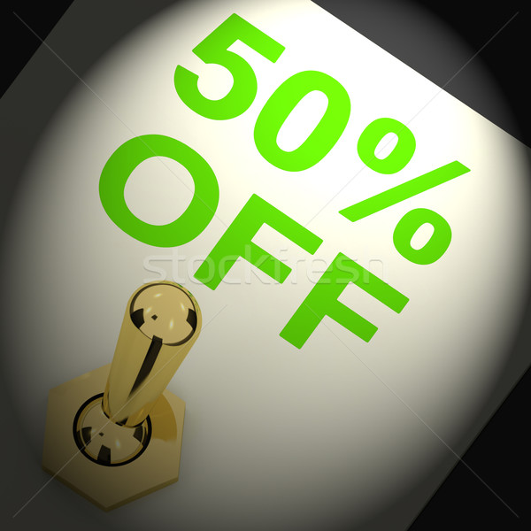 Przełącznik sprzedaży zniżka pięćdziesiąt procent Zdjęcia stock © stuartmiles