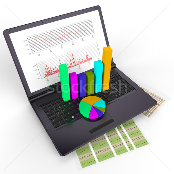 Online Reports Means World Wide Web And Document Stock photo © stuartmiles
