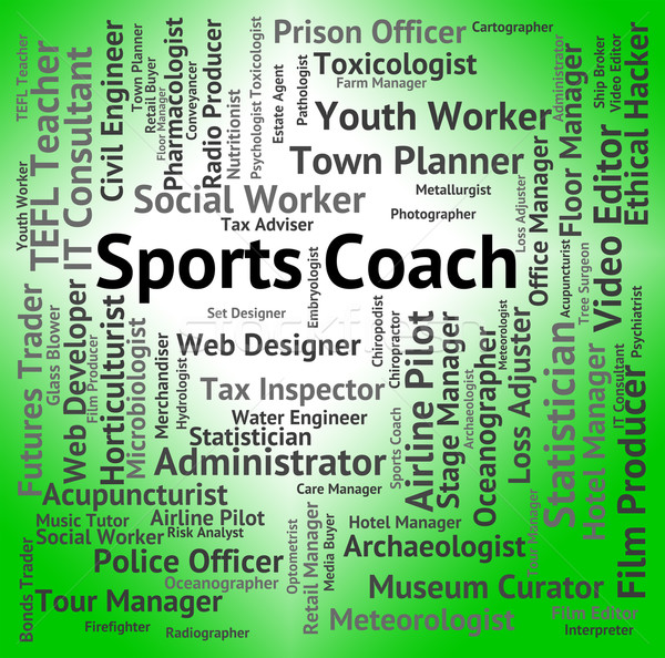 Sports Coach Represents Physical Activity And Education Stock photo © stuartmiles