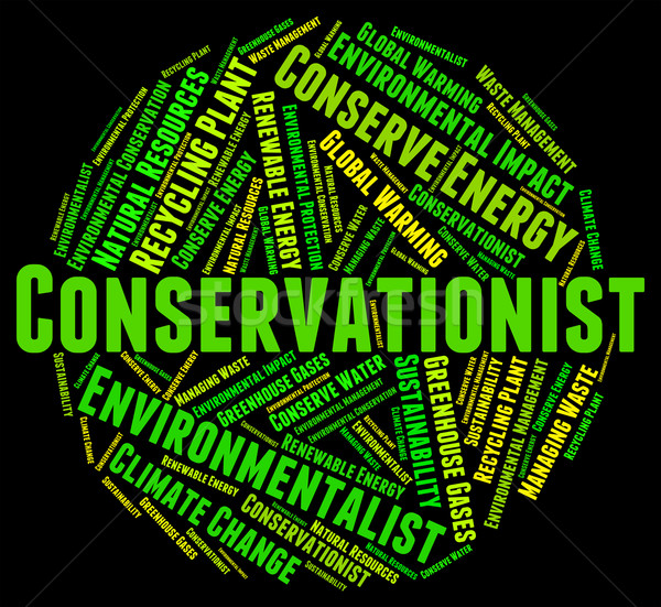 Conservationist Word Indicates Words Conserving And Protection Stock photo © stuartmiles