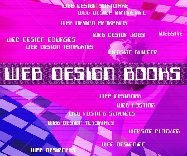 Web Design Books Indicates Searching Website And Websites Stock photo © stuartmiles