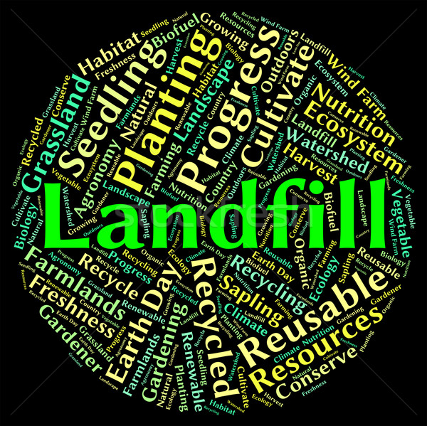 Landfill Word Shows Waste Management And Disposing Stock photo © stuartmiles