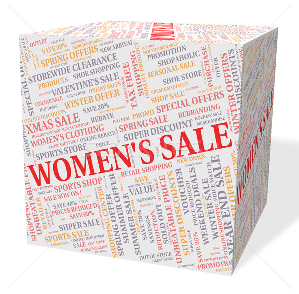 Women's Sale Shows Retail Promotion And Offers Stock photo © stuartmiles