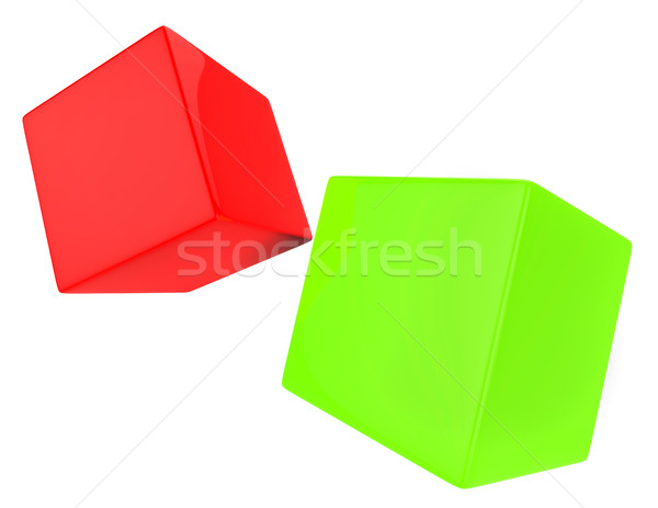 Dice Blocks Indicates Blank Space And Bet Stock photo © stuartmiles