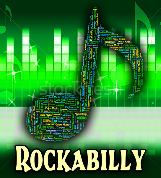 Rockabilly Music Shows Sound Track And Acoustic Stock photo © stuartmiles