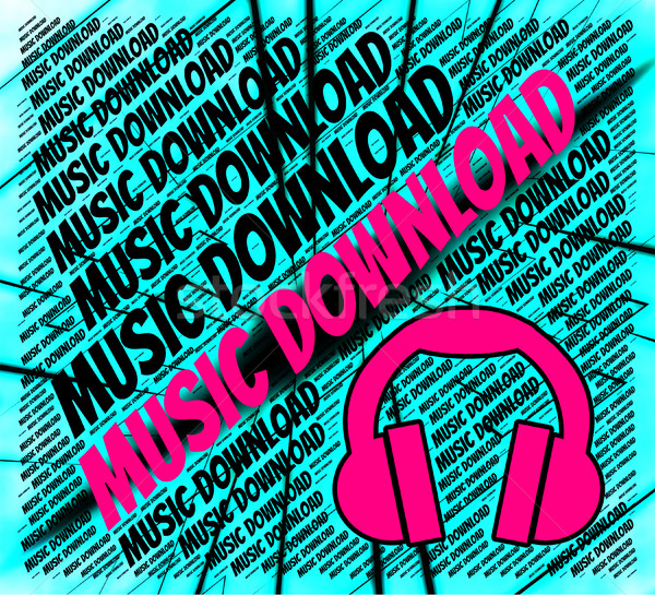 Music Download Indicates Sound Tracks And Acoustic Stock photo © stuartmiles