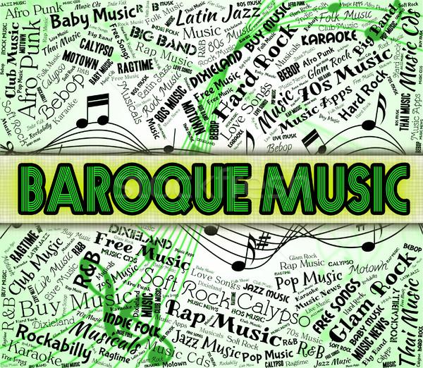барокко музыку звук трек акустический Сток-фото © stuartmiles
