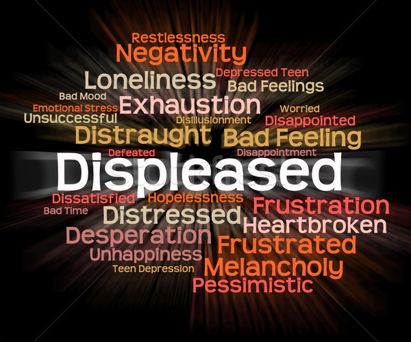 Displeased Word Means Put Out And Aggravate Stock photo © stuartmiles