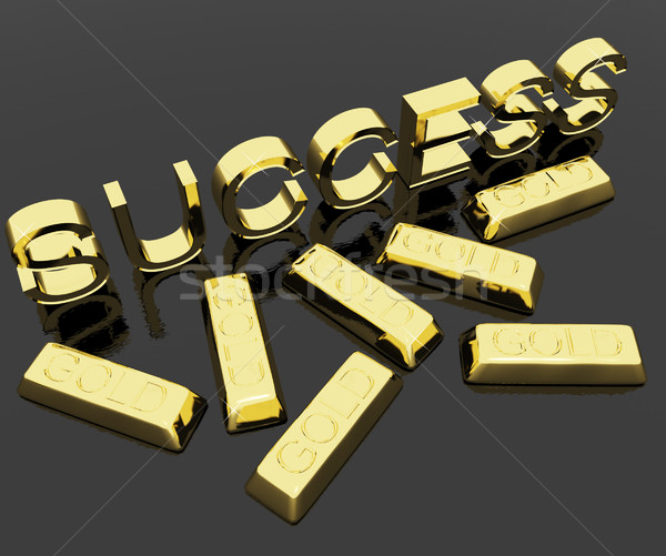 Success Text And Gold Bars As Symbol Of Winning And Victory Stock photo © stuartmiles