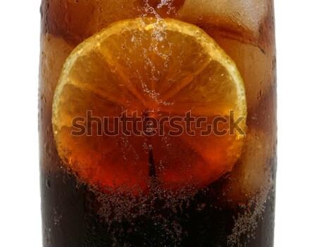 Bebida fria cola limão gelo fatia legal Foto stock © stuartmiles
