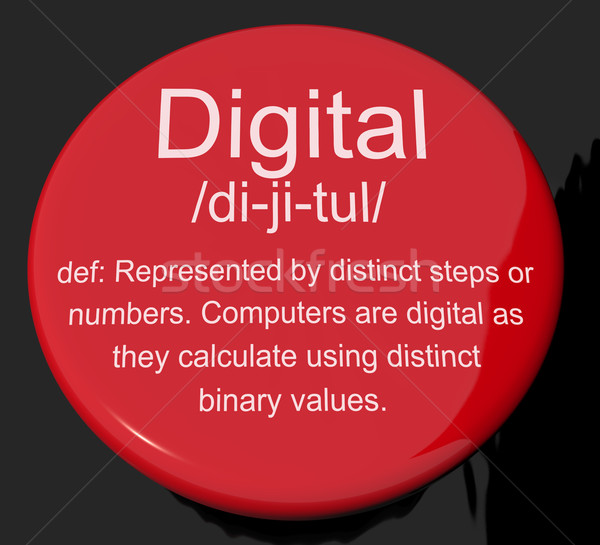 デジタル 定義 ボタン バイナリ 価値観 ストックフォト © stuartmiles