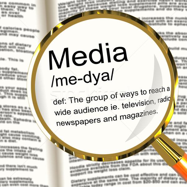 ストックフォト: メディア · 定義 · に達する · 観客