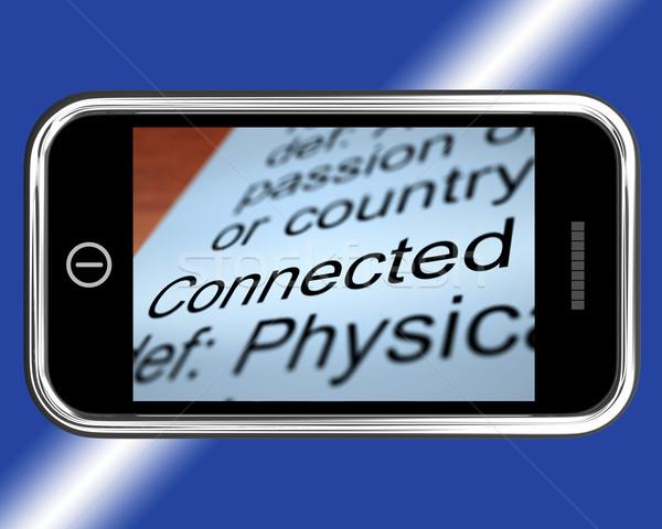 Definição móvel on-line conexão telefone tecnologia Foto stock © stuartmiles