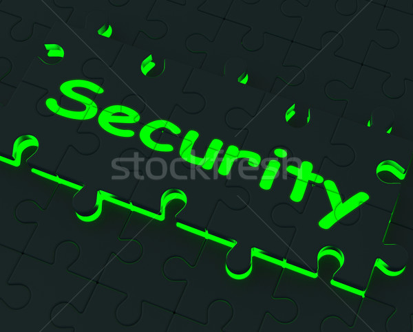 Security Puzzle Shows Restricted Areas Stock photo © stuartmiles